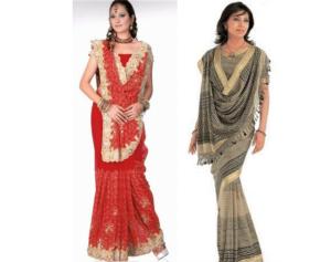 Rajrani Saree Style-Border line Saree-Double Saree