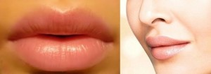 Beautiful Natural Pink Lips and Graceful Neck Tips