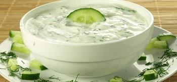 Curd and Cucumber