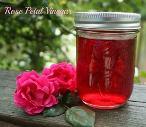 Rose water and vinegar