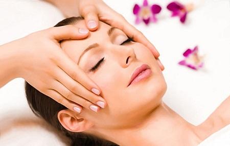 Forehead Massage Steps