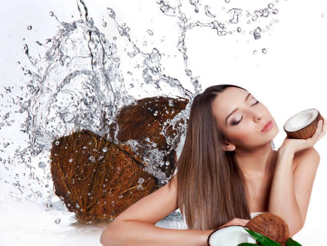 Coconut water to get glowing skin