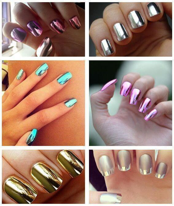 Manicure metallic colors
